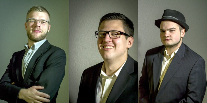 Kandidaten: Daniel Wagner, Maik Kahle, Sven Salewski (foto: piraten)