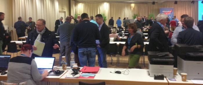 Listenparteitag der AfD in Rheda-Wiedenbrück (foto: Markus Bensmann)