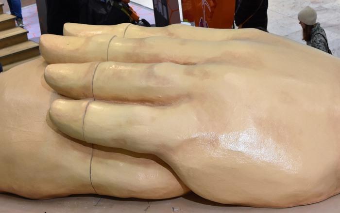 Schon vorbei: die Körperausstellung in Kassel. (foto: peter)