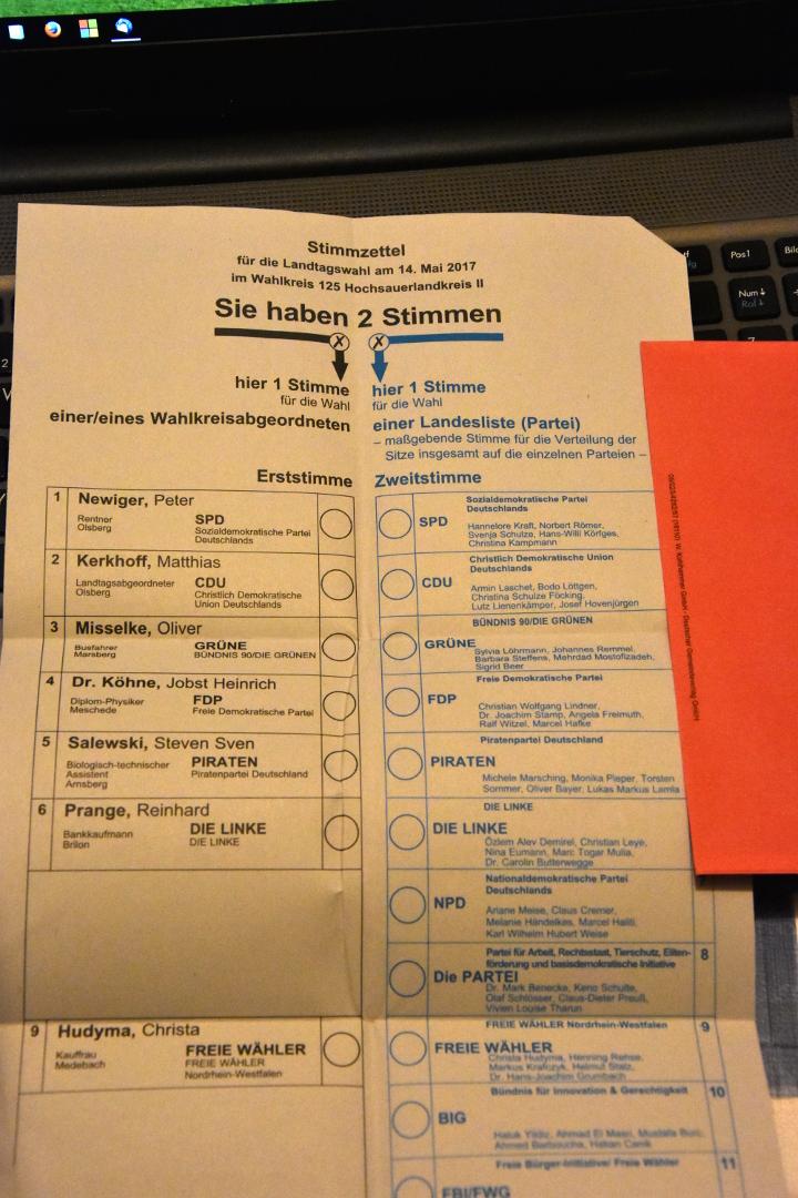 Briefwahl Landtagswahl Nrw
