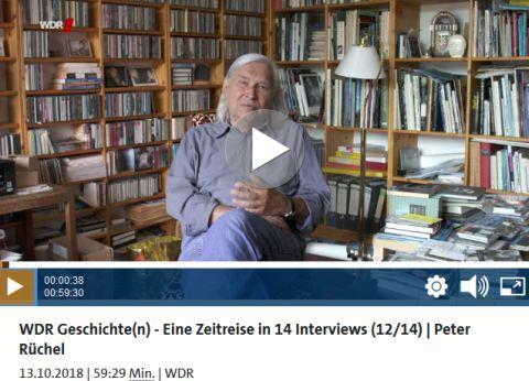 Screenshot: WDR Geschichte(n) - Eine Zeitreise in 14 Interviews (12/14) | Peter Rüchel - (C) WDR