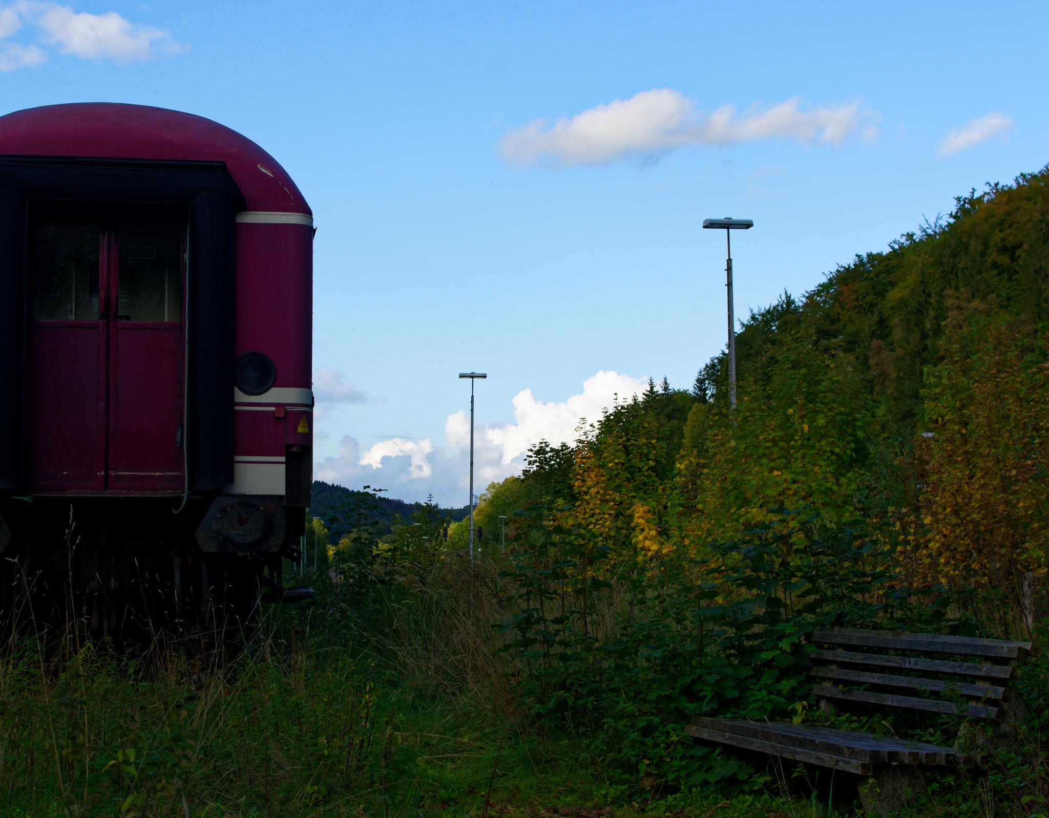 Die ausrangierte Bahn in Brilon Wald. (foto: zoom)